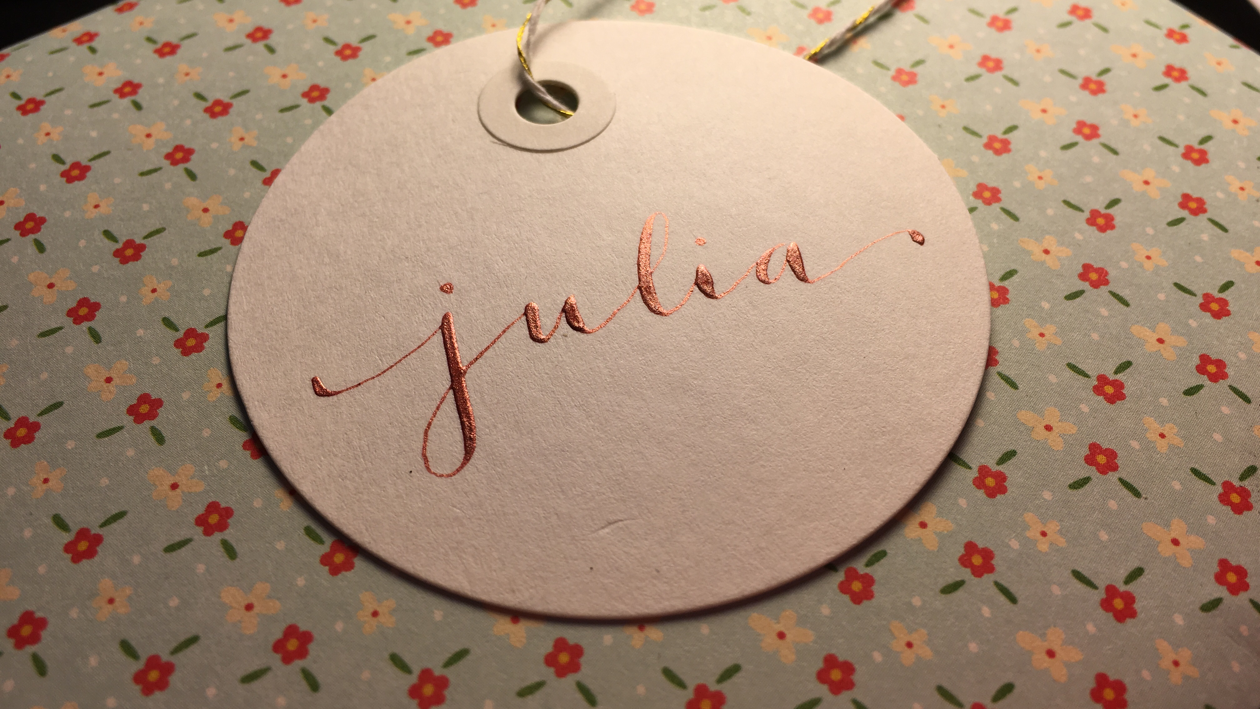 Calligraphy gift tags andrea casals
