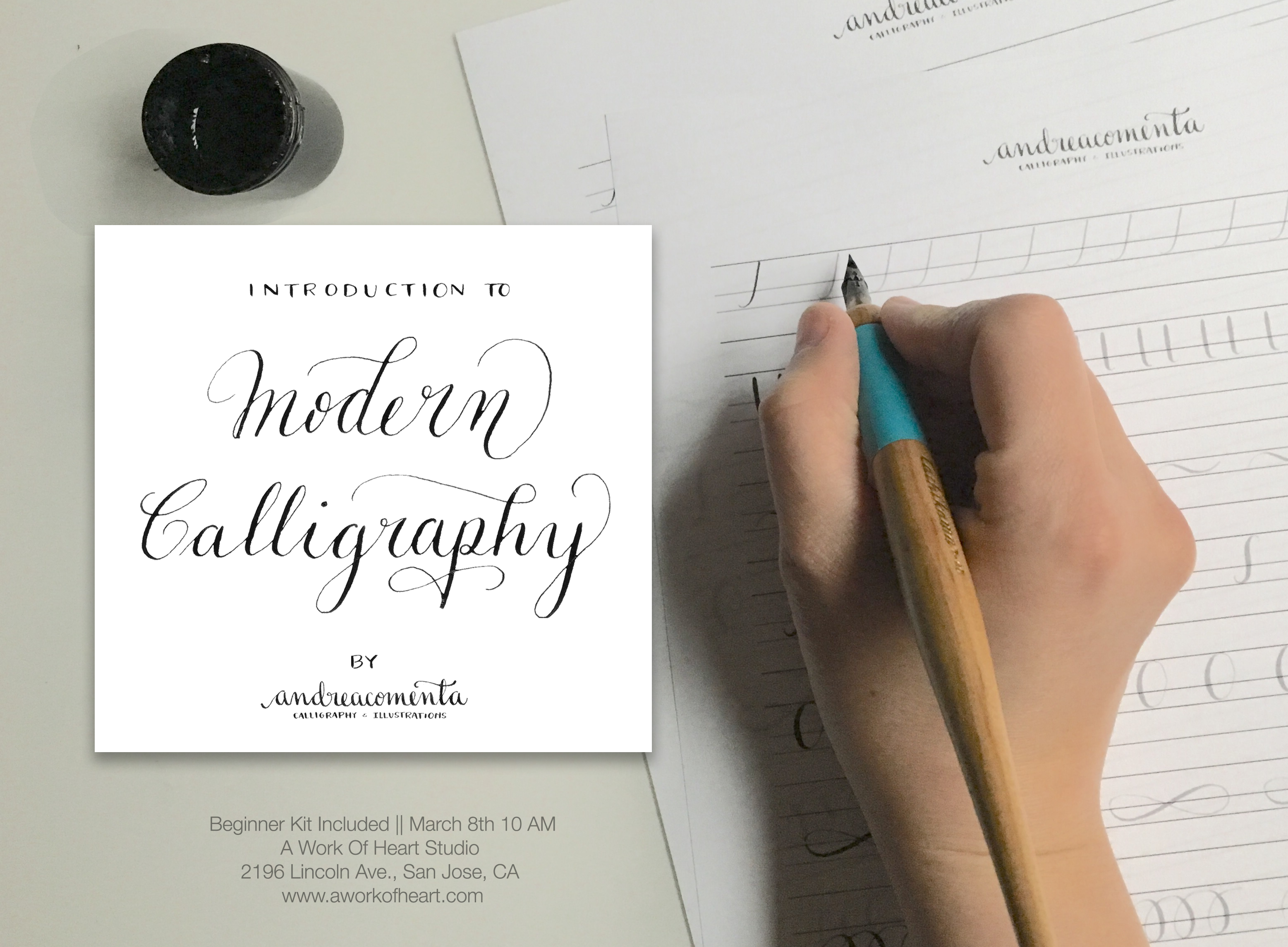 Introduction to modern calligraphy workshop andrea casals