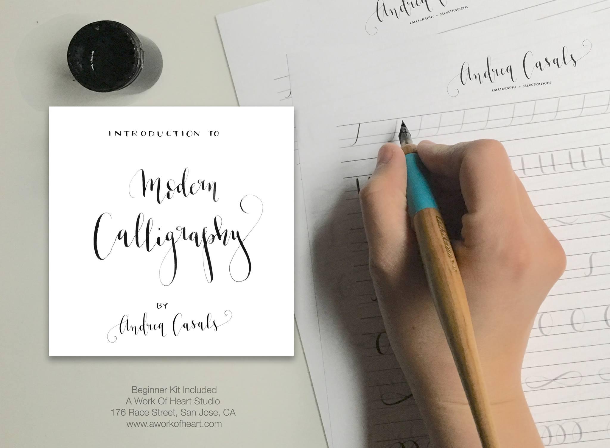Calligraphy workshops u andrea casals