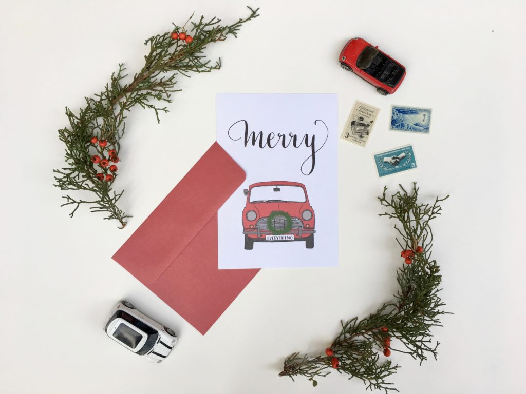 photograph relating to Printable Christmas Images named calligraphy and example: printable xmas card