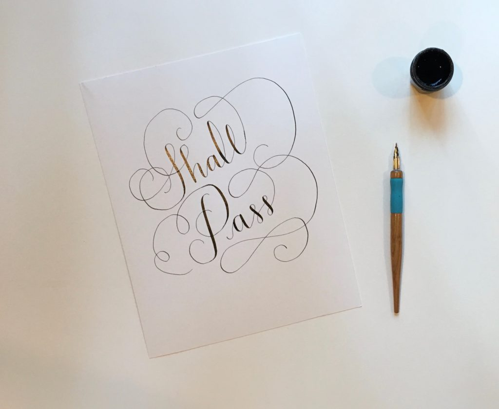 Free calligraphy printable happy valentine s day from lps